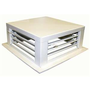 "Drop Down Evaporative Cooler Diffusers White Powder Coated 18""x18""x5"" DF-18P"