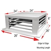 "Drop Down Evaporative Cooler Diffusers White Powder Coated 24""x24""x6"" DF-24P"