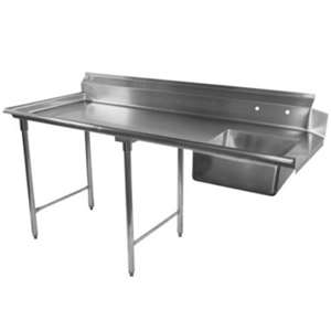 DT72S-L Stainless Steel Dish Table Soil Side
