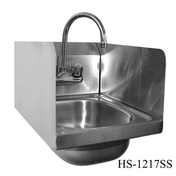 HS 1217W Wall Mount Stainless Steel Hand Sink