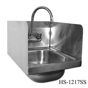 HS-1217W Wall Mount Stainless Steel Hand Sink