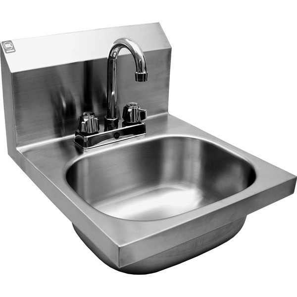 HS 1416D Wall Mount Stainless Steel Hand Sink