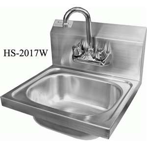"HS-2017WG Wall Mount S/S Hand Sink 20""x17"""