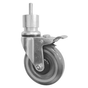 "6""H. Threaded Stem Style 1""x1/2""-13UNC. PU-Caster, Total Lock Brake, Height Adjustable For Refrigerators KT6211A"