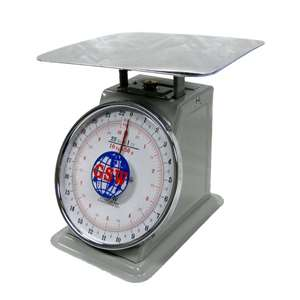 "Flat Plate Scale Stainless Steel, 6lb/3kg Capacity 5-1/2"" x 9"" x 8-1/2"" SC-S6"