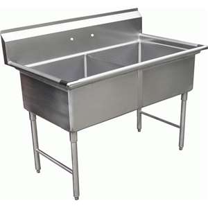 SE18182N 2 Compartment Restaurant Sink