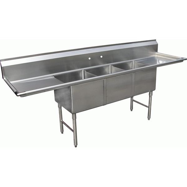 se18183d24 3 compartment kitchen 18   x 18   sink 3 compartment kitchen 18   x 18   sink   se18183d24   kitchen of glam  rh   kitchenofglam com