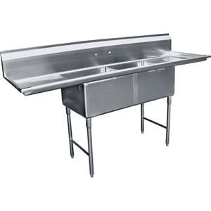 SH20242D 2 Compartment Stainless Steel Sink