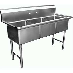 SH24243N 3 Compartment Restaurant Sink