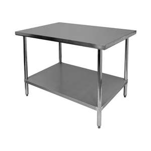 WT-EE3018 Economy Stainless Steel Flat Top Work Table