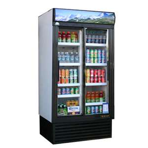 BLUE AIR BAGR35 Glass Door Refrigerator