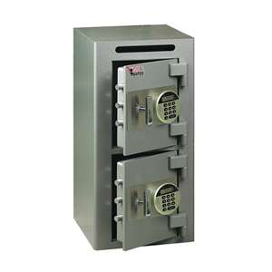 Bull Safe BSS2EE Depository Safe With Slots & Electric Digital Lock 2 Doors