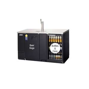 EVEREST EBD3-BBG 2 Door (1 Glass) Back Bar & Beer Dispenser