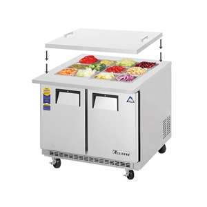 EVEREST EOTPS2 2 Door Open Top Trep Table