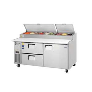 EVEREST EPPR2-D2 2 Section 1 Door & 2 Drawer combo Pizza Prep Table