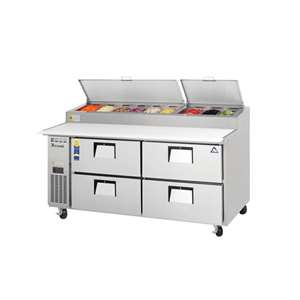 EVEREST EPPR2-D4 2 Section 4 Door Pizza Prep Table