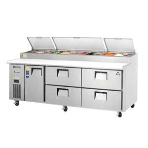 EVEREST EPPR3-D4 3 Section 1 Door & 4 Drawer Combo Pizza Prep Table
