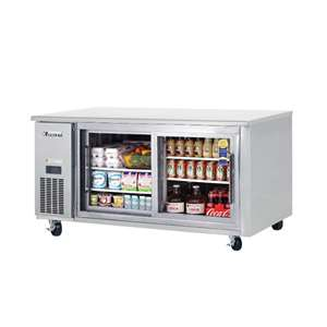 EVEREST ETGR2 2 Glass Door Undercounter Refrigerator (Sliding)