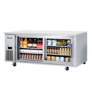 EVEREST ETGWR2 2 Glass Door Undercounter Refrigerator (Sliding)