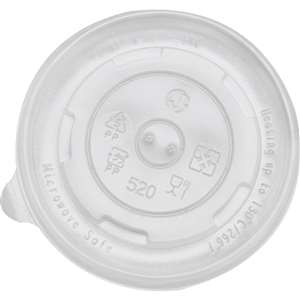 KARAT C-KDL96-PP Paper Hot/Cold Food Container PP Flat Lid