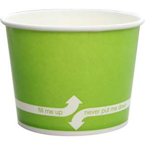 KARAT C-KDP12-G Double Poly Paper Hot/Cold Green Food Container