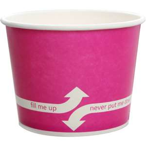 KARAT C-KDP12-P Double Poly Paper Hot/Cold Pink Food Container