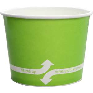 KARAT C-KDP16-G Double Poly Paper Hot/Cold Green Food Container