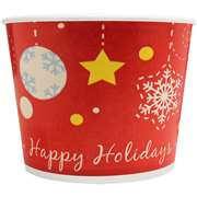KARAT C-KDP16-H Double Poly Paper Hot/Cold Holiday Food Container