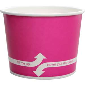 KARAT C-KDP16-P Double Poly Paper Hot/Cold Pink Food Container