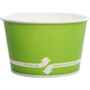KARAT C-KDP20-G Double Poly Paper Green Food Container