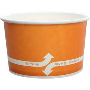 KARAT C-KDP20-O Double Poly Paper Orange Food Container