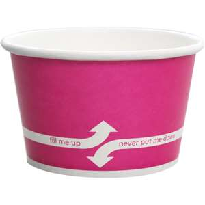 KARAT C-KDP20-P Double Poly Paper Pink Food Container