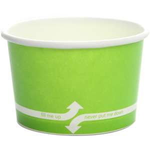 KARAT C-KDP4-G Paper Hot/Cold Green Food Container
