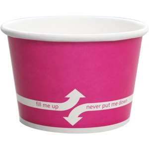 KARAT C-KDP8-P Paper Hot/Cold Pink Food Container