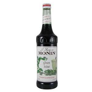 Monin H-MINT-GREEN Green Mint Syrup 750ml