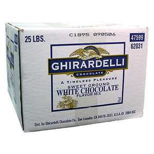 Ghirardelli I-WHITE-CHOCOLATE-P-25 White Chocolate Powder