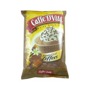 Caffe D'Vita P7004 BLENDED ICED Coffee Caramel Latte