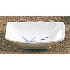 "Thunder Group 2 oz, 3 1 / 2"" X 2 3 / 8"" Sauce Dish, Blue Bamboo, 2 Dozen, THUND-0001BB"