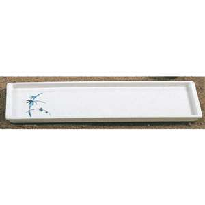 "Thunder Group 13 1 / 2"" X 4 1 / 2"" Sandwich Tray, Blue Bamboo, 1 Dozen, THUND-0900BB"