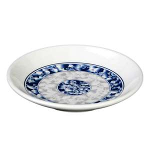 "Thunder Group 4 oz,4 1 / 2"" Plate, Blue Dragons, 1 Dozen, THUND-1004DL"