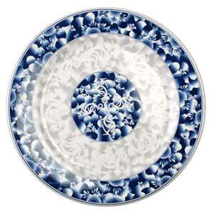"Thunder Group 11 3 / 4"" Plate, Blue Dragon, 1 Dozen, THUND-1012DL"