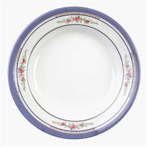 "Thunder Group 7 oz, 7 7 / 8"" Soup Plate, Rose, 1 Dozen, THUND-1108AR"