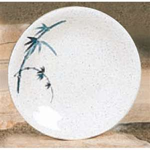 "Thunder Group 8 5 / 8"" Dinner Plate, Blue Bamboo, 1 Dozen, THUND-1308BB"