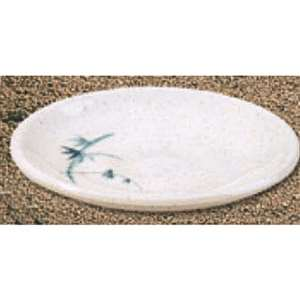"Thunder Group 3 3 / 4"" Saucer, Blue Bamboo, 5 Dozen, THUND-1338BB"