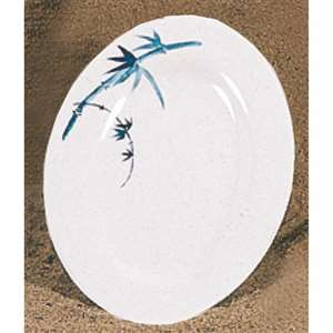 "Thunder Group 9 7 / 8"" X 7 1 / 4"" Platter, Blue Bamboo, 1 Dozen, THUND-2010BB"