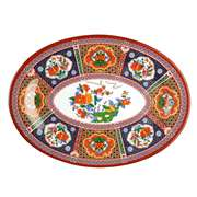 "Thunder Group 12"" X 8 5 / 8"" Platter, Peacock, 1 Dozen, THUND-2012TP"