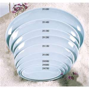 "Thunder Group 11 1 / 4"" X 8 3 / 8"" Platter, Blue Jade, 1 Dozen, THUND-2911"