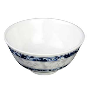"Thunder Group 6 oz, 3 3 / 4"" Rice Bowl, Blue Dragon, 2 Dozen, THUND-3008DL"