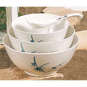 "Thunder Group 39 oz, 7"" Rice Bowl, Blue Bamboo, 1 Dozen, THUND-5207BB"