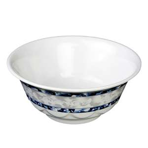 "Thunder Group 25 oz, 6 1 / 4"" Scalloped Bowl, Blue Dragon, 1 Dozen, THUND-5265DL"
